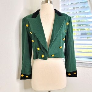 •VGT. ESCADA• Wool Cashmere Band Jacket 34/S.